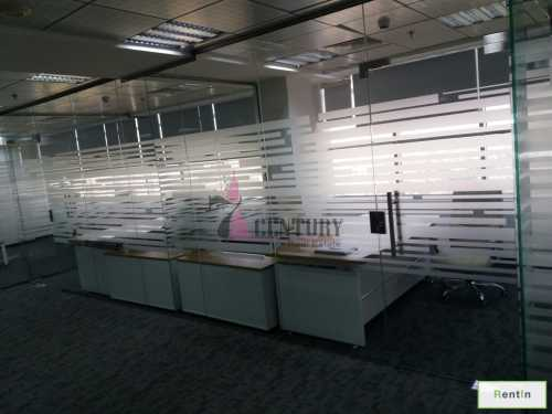 Furnished & Spacious Office with Glass Partition