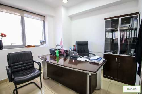 Huge Furnished Office with Glass Partition