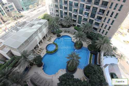 Fully furnished 1 BR Apartment with Burj Khalifa View