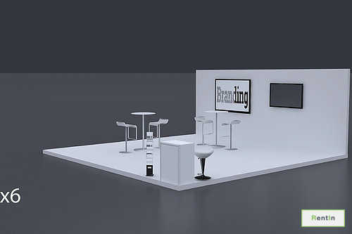Exhibition Stand 6 Mtrs x 6 Mtrs - 3 Side Open #RF128