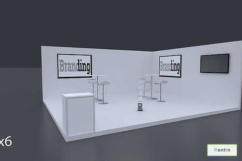 Exhibition Stand Stand 6 Mtrs x 5 Mtrs - 2 Side Open #RF124