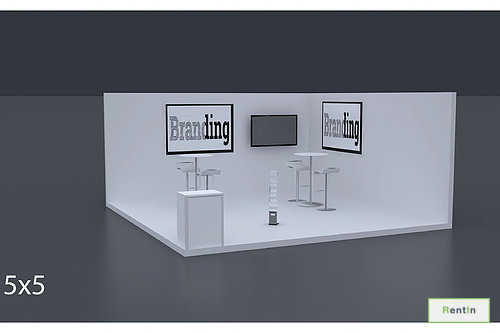 Exhibition Stand 5 Mtrs x 5 Mtrs - 2 Side Open #RF121