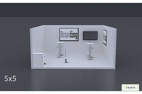 Exhibition Stand 5 Mtrs x 5 Mtrs - 1 Side Open #RF120
