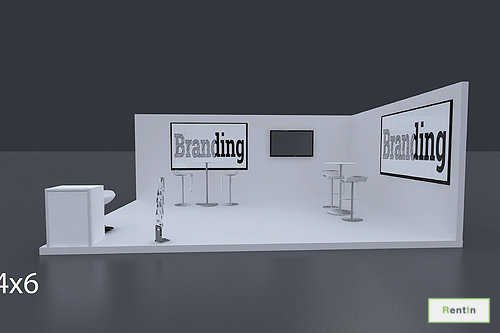 Exhibition Stand 6 Mtrs x 4 Mtrs - 2 Side Open #RF119