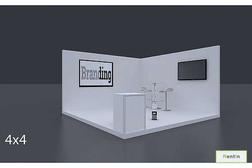 Exhibition Stand 4 Mtrs X 4 Mtrs - 2 Side Open