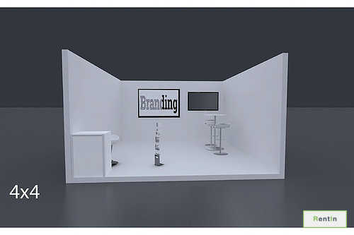 Exhibition Stand 4 X 4 Mtrs – 1 Side Open #RF112