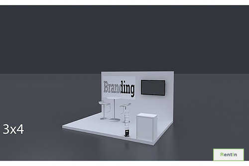Open Exhibition Stand : Proj m m waveform exhibition stand hire