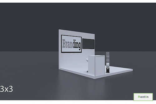 Exhibition Booth 3 X 3 Mtrs - 3 Side Open #RF105