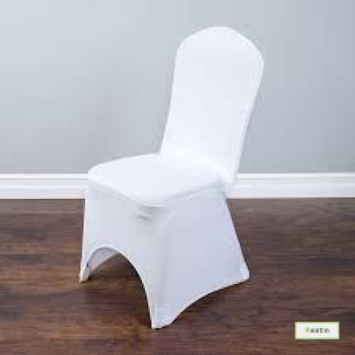 BANQUET CHAIR WITH STRETCH COVER(WHITE)