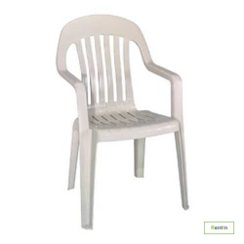 PLASTIC CHAIR WITH ARM REST