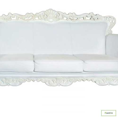 GOTHIC THREE SEATER SOFA (WHITE)