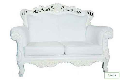GOTHIC TWO SEATER SOFA(WHITE)