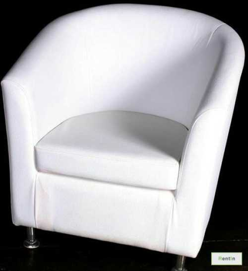 WHITE SINGLE SEATER SOFA