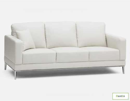 WHITE TRIPLE SEATER SOFA