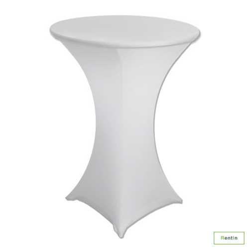 COCKTAIL TABLE WITH WHITE STRETCH COVER