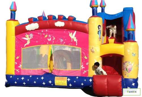 FAIRY PRINCESS BOUNCY CASTLE/SLIDER(COMBO)