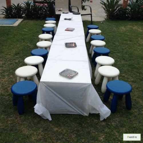 KIDS PLASTIC TABLES AND STOOLS( BIRTHDAY PACKAGE)