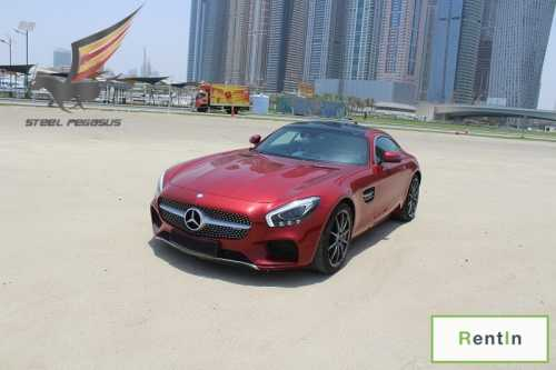 RENT MERCEDES GTS AMG IN DUBAI