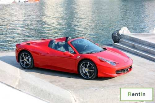RENT FERRARI 458 SPIDER IN DUBAI
