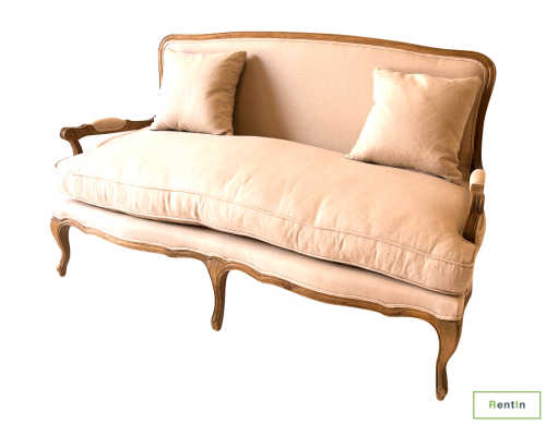 French Provincial Two Seater Sofa