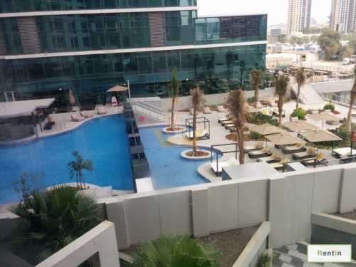 Partial Burj Khalifa, Pool View, Executive Tower