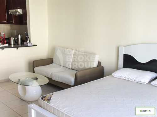 Payable by 4 Chqs,Fully Furnished Studio