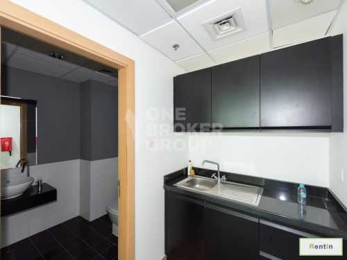 Furnished Office Space, Pantry and Toilet