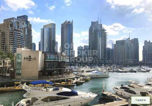Elegant 1BED | Wide Balcony |View of Marina