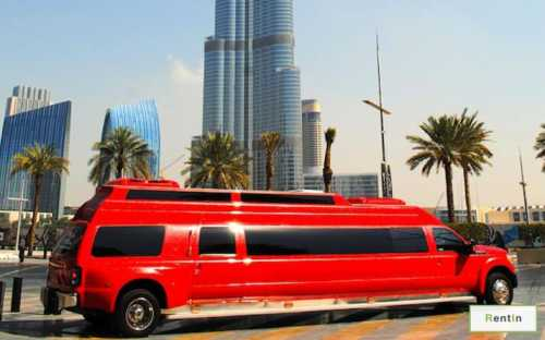 F550 Big Red limousine rental in Dubai