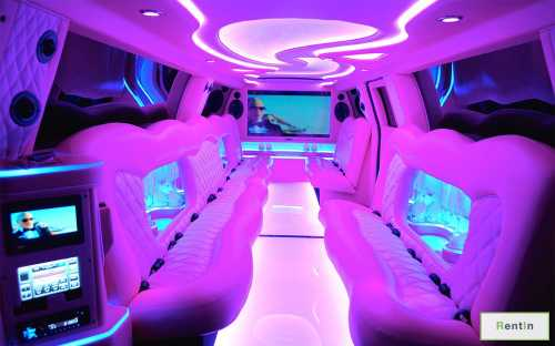 Limo Pink Panther GMC for rent in Dubai