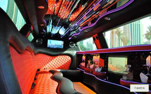 Dodge charger VIP limo for rent in Dubai