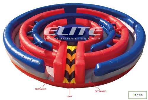 Round Inflatable Maze hire