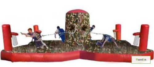 4x Player Bungee Run & Basketball inflatable game rental