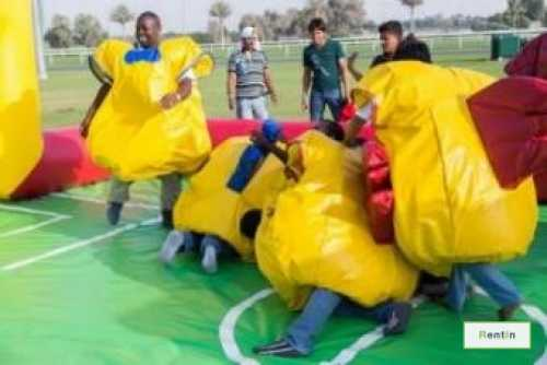 Inflatable silly football game for rent