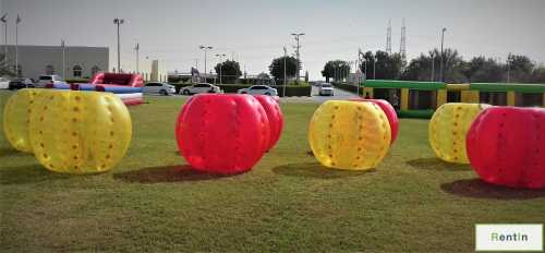 Ball bumper inflatable soccer game rental