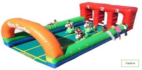 Inflatable Fun Derby Race for rent