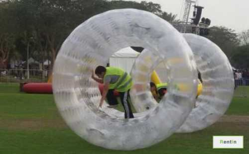 Inflatable Roller Race events rentals
