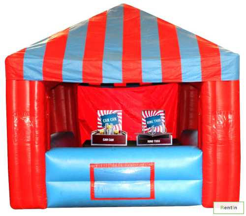 Inflatable tent + 2 x skill games for rent