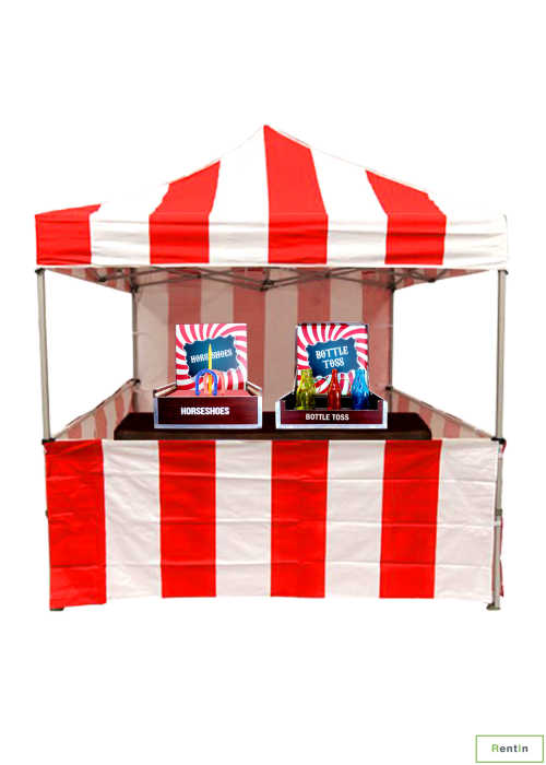 1x classic tent + 2 x skill games for rent