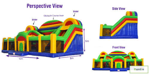 Maxima Fun City inflatable bouncy rental