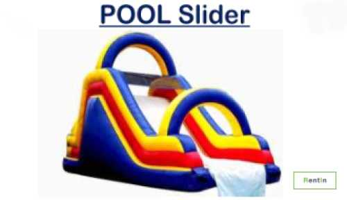Inflatable pool slide for rent in Dubai