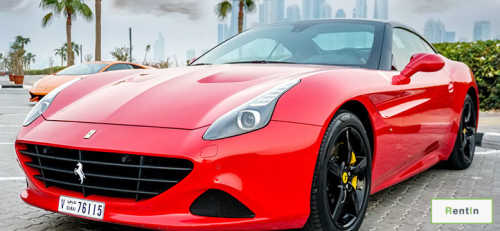 Rent Ferrari California Turbo in Dubai