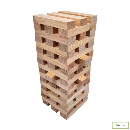 Giant Jenga game for rent