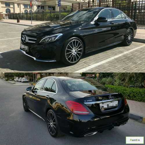 Mercedes C200 for rent Sharjah