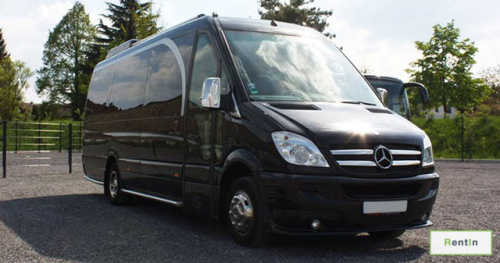 Mercedes Sprinter (Black) for rent with driver Dubai