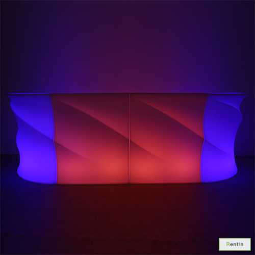 LED WAVE CORNER BAR