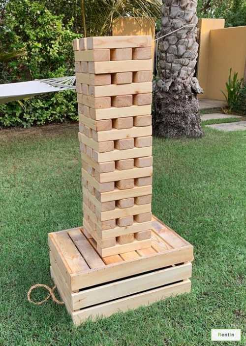 Giant Jenga for rent (Free delivery Dubai)