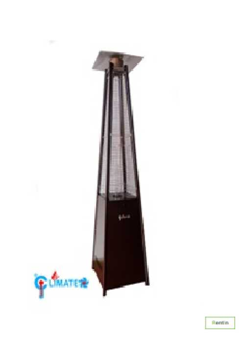 Pyramid Heater Square Type Coated Gold Color