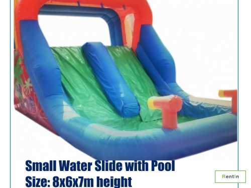 New water slide size 8x4.5x6m with pool